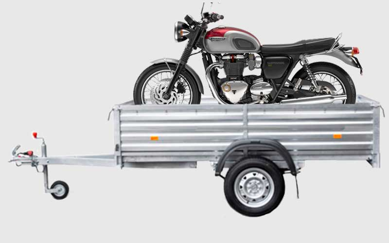 Как можно перевезти мотоцикл в прицепе